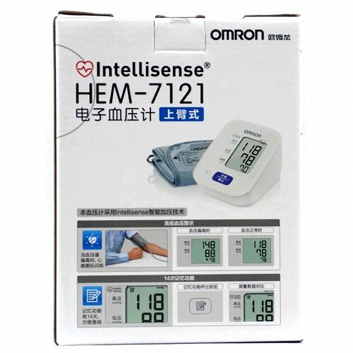 歐姆龍 電子血壓計上臂式 HEM-7121