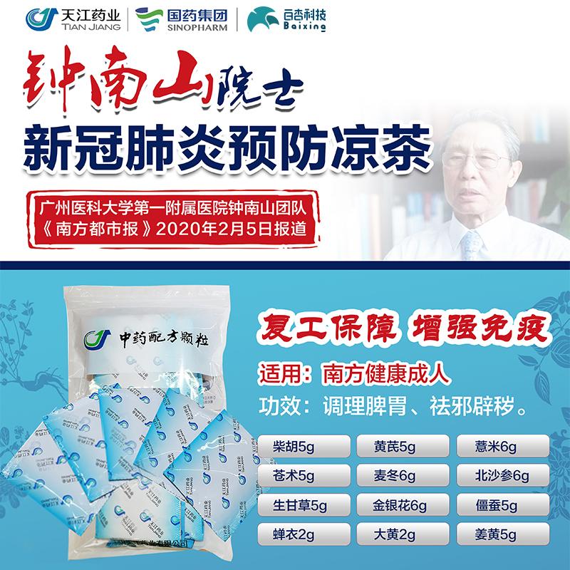 鐘南山推薦預防新型冠狀病毒:涼茶方