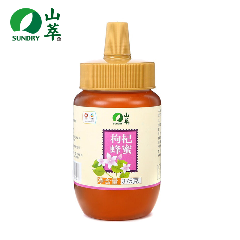中糧 山萃枸杞蜂蜜375g瓶 特種蜜