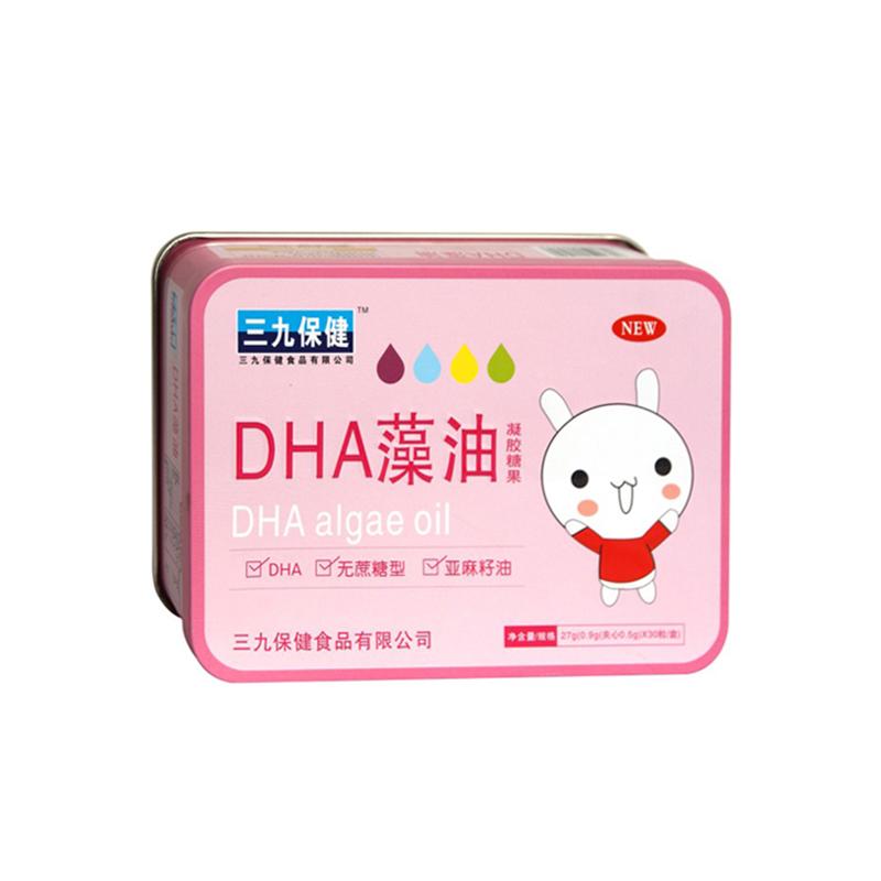 三九保健*DHA藻油凝膠糖果(鐵盒)
