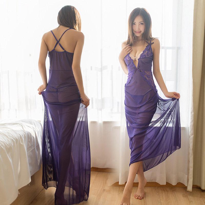 情趣内衣女极度诱惑性感透明浴袍网纱多件套装