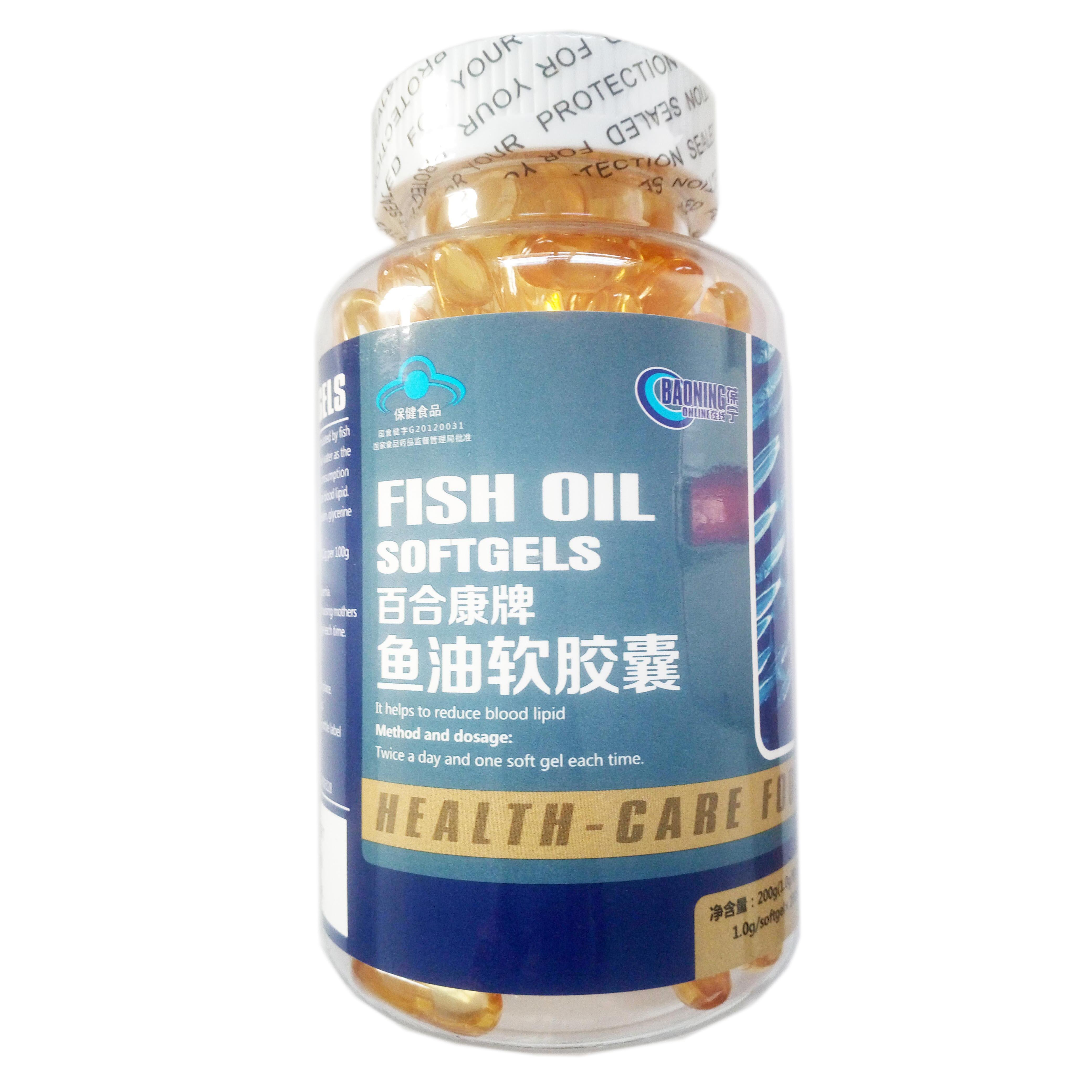 百合康牌鱼油软胶囊