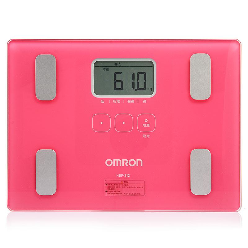 體重身體脂肪測量器 HBF-212 玫紅
