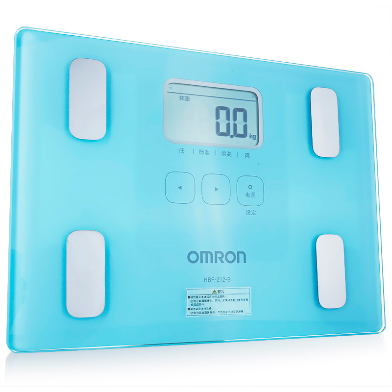 体重身体脂肪测量器HBF-212-B(湖蓝色)