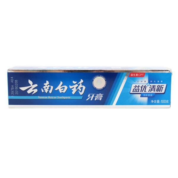 云南白药牙膏益优清新清新晨露型