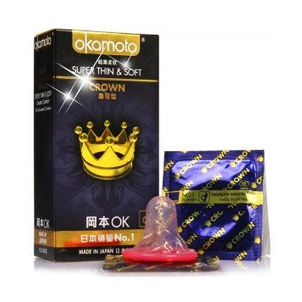 天然胶乳橡胶避孕套冈本皇冠型