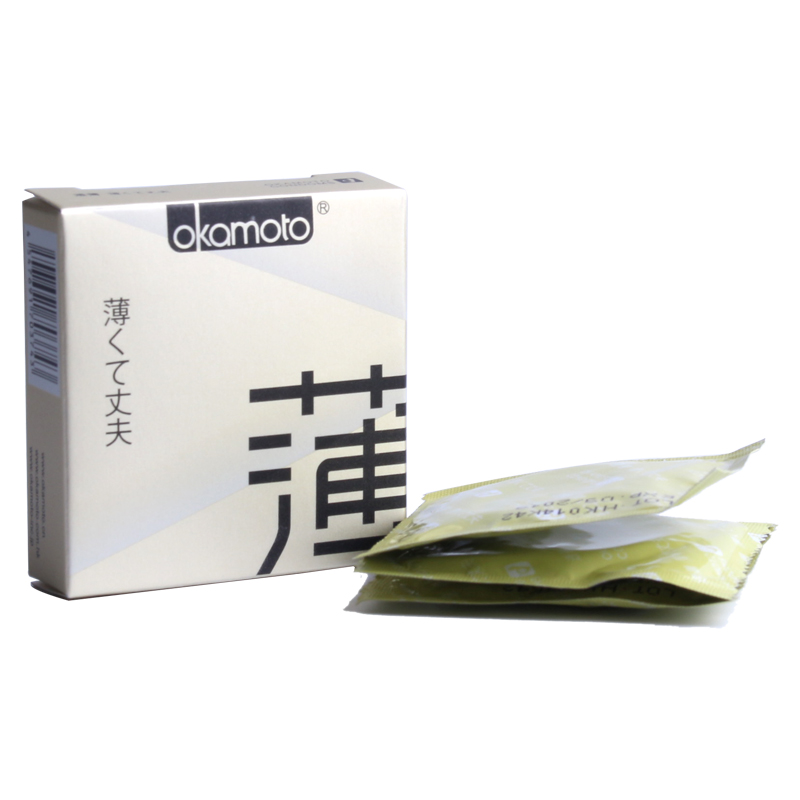 天然胶乳橡胶避孕套冈本透薄型