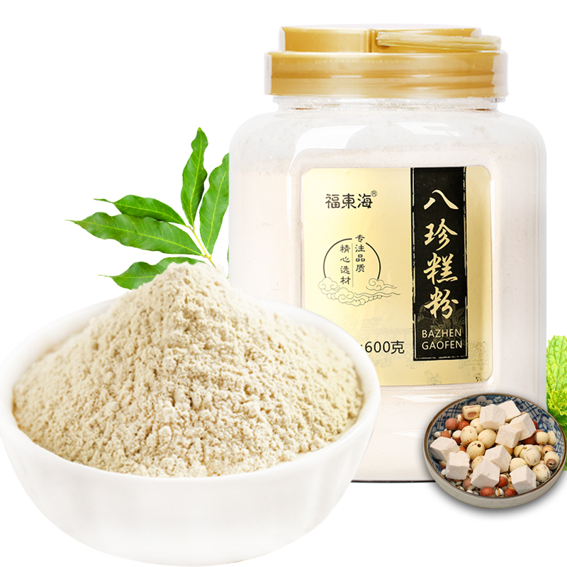 福东海 八珍糕粉 山药粉薏米粉芡实粉 600克瓶装
