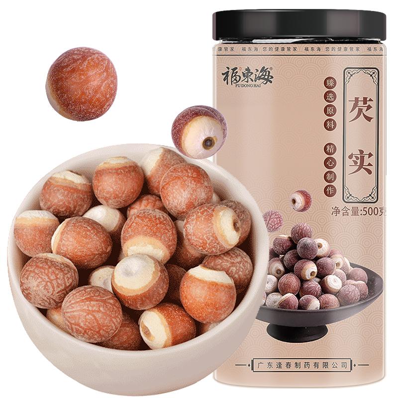 福東海 圓粒芡實 新鮮芡實米 500克瓶裝