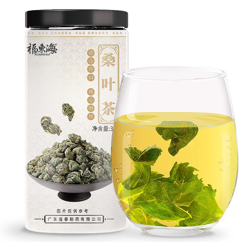福東海 桑葉茶 新鮮桑葉干 300克罐裝