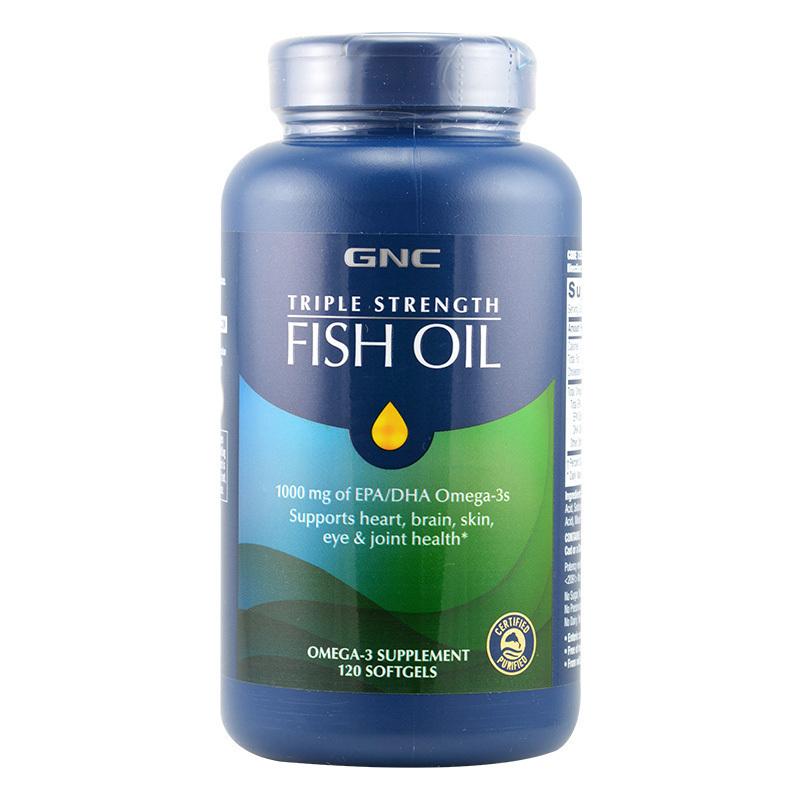 美国进口 健安喜GNC 深海鱼油软胶囊 120粒