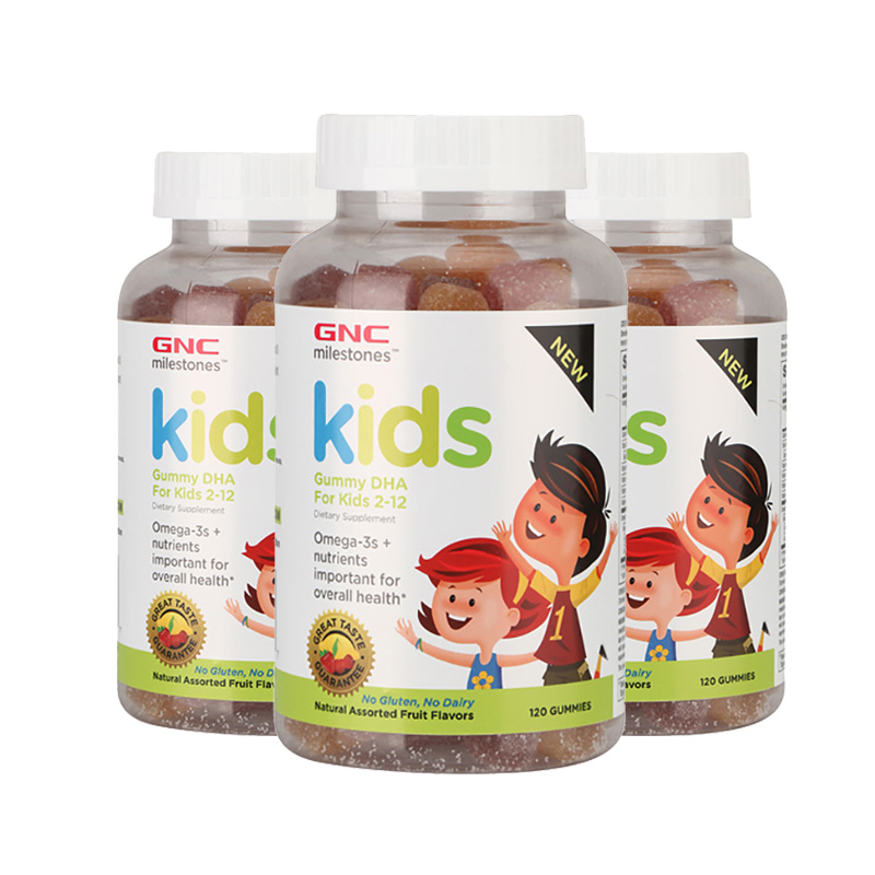 健安喜GNC 儿童DHA软糖 辅助智力脑力 成长发育