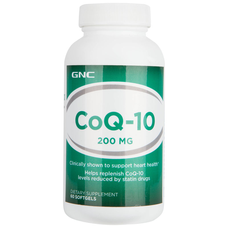 美国进口 健安喜GNC 辅酶Q10软胶囊200mg60粒心脏保健