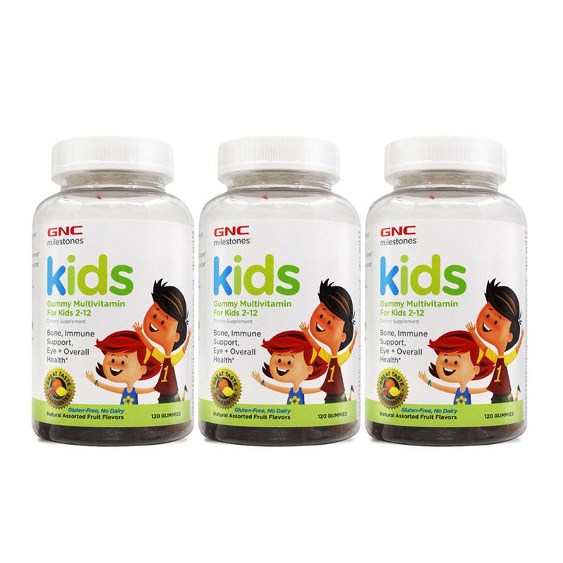 美国进口 健安喜GNC 儿童复合钙软糖水果味