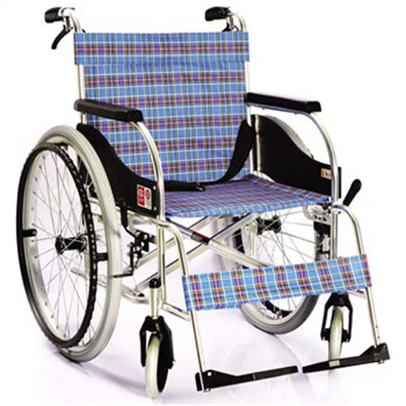 鱼跃手动轮椅车铝合金带坐便4000A