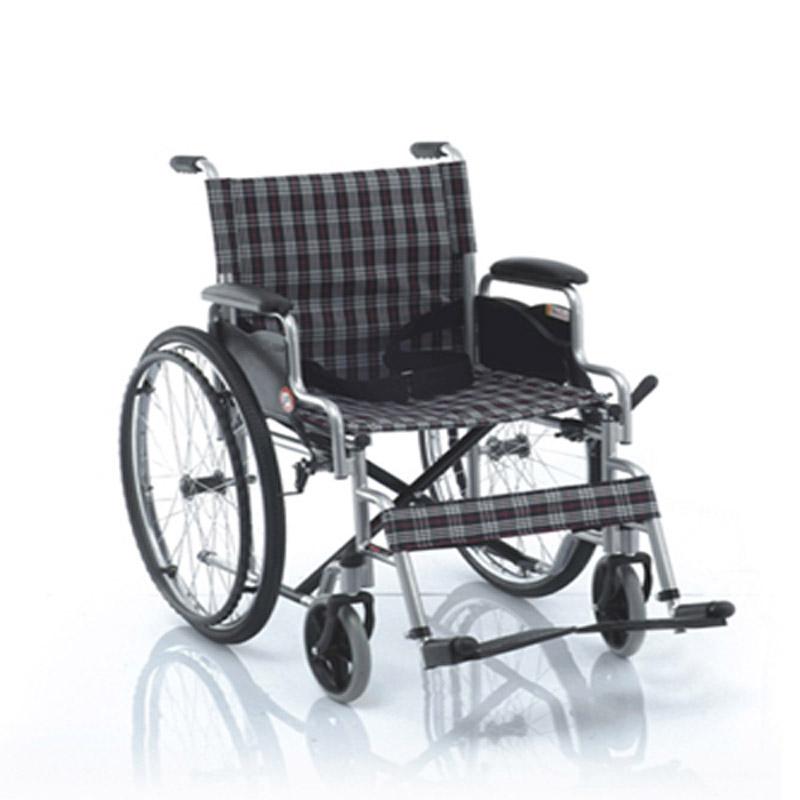 鱼跃手动轮椅车喷塑软座H006