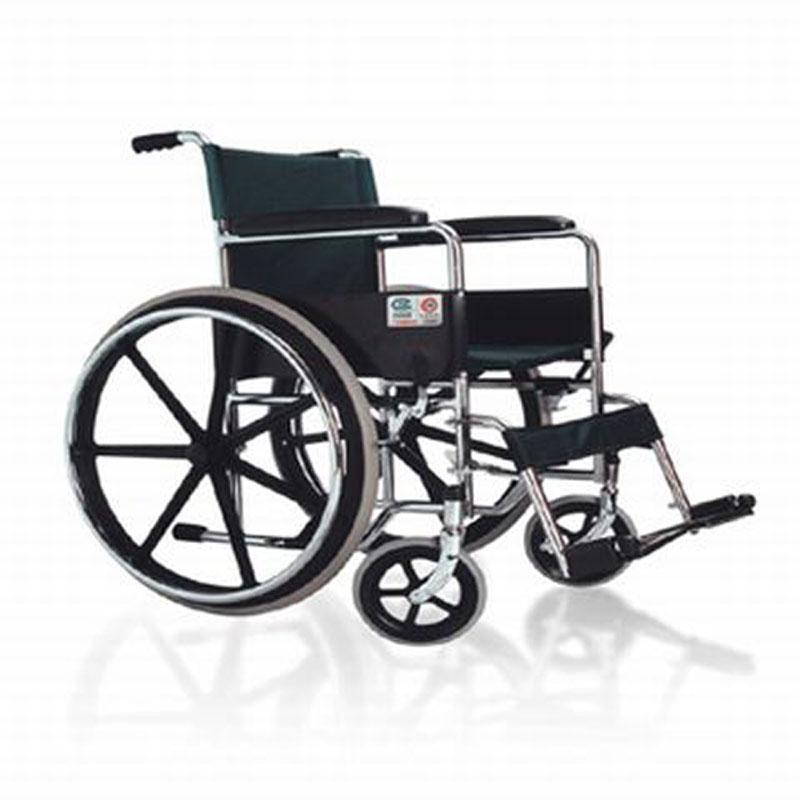 鱼跃手动轮椅车电镀真空免充气2500