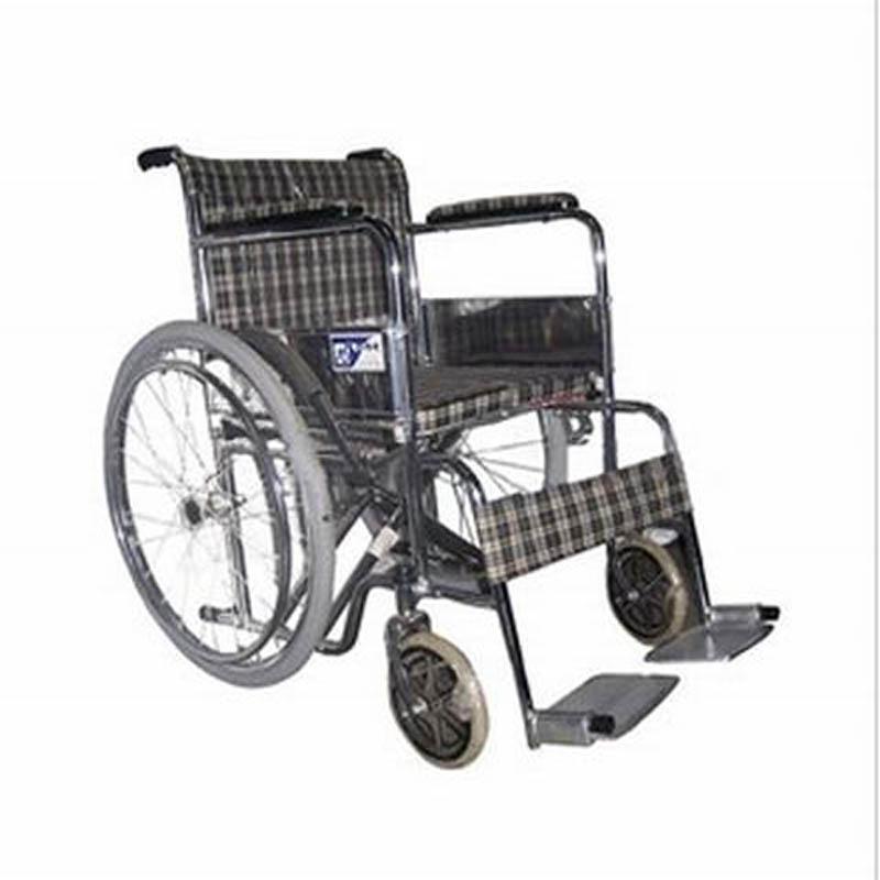 东方手动轮椅车折叠式电镀硬座FS810Y-46