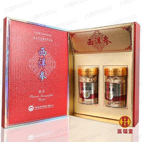 金贵 西洋参云片 50g*2瓶盒 精致包装礼盒装 莲福堂正品质量保证