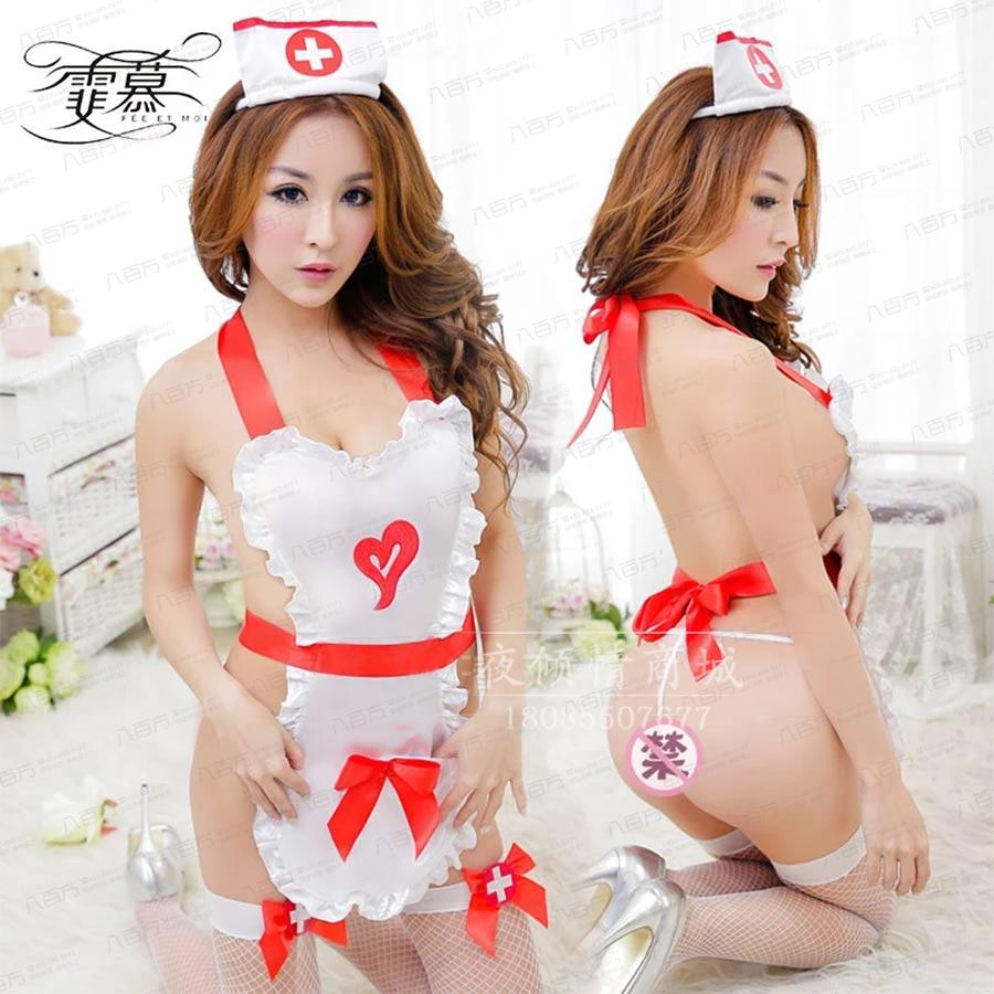 【情趣内衣】FM时尚围裙式纯情护士服9901