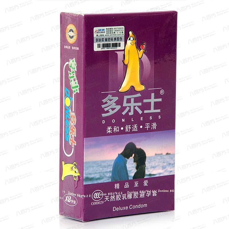天然胶乳橡胶避孕套12只(多乐士精品至爱)