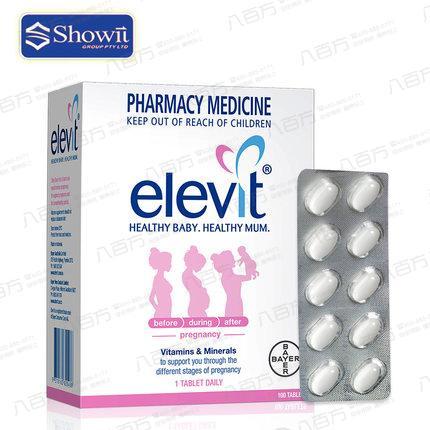 【澳洲进口】Elevit爱乐维 复合武松娱乐 备孕前中后期叶酸孕妇营养