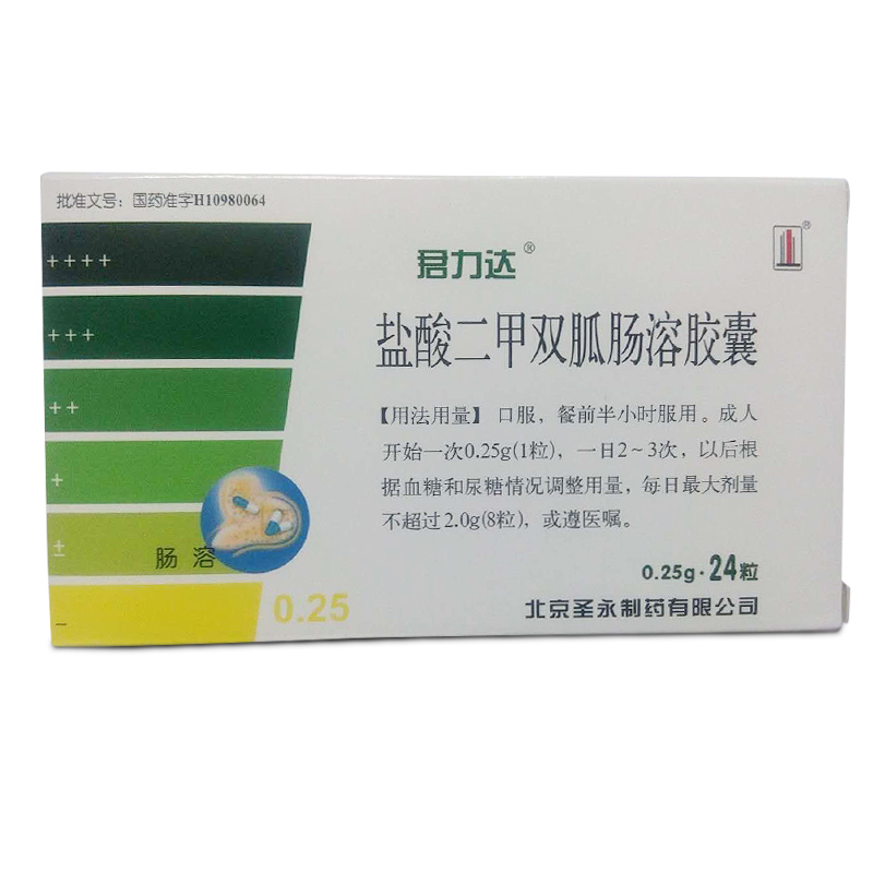 鹽酸二甲雙胍腸溶膠囊