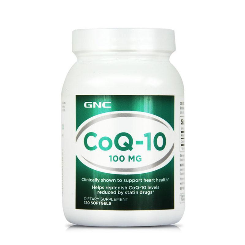 美国进口 GNC/健安喜 辅酶Q10软胶囊100mg120粒 保护心脏 心脏保健