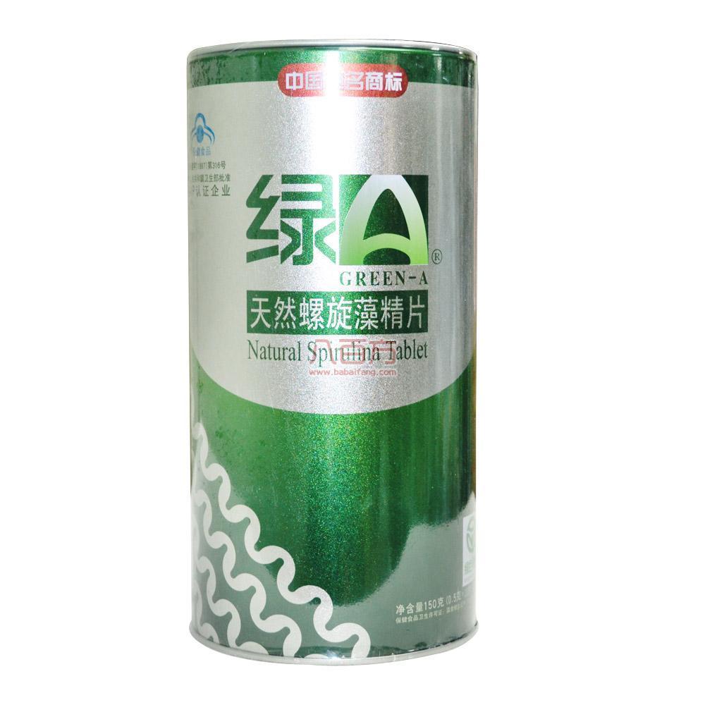 绿A天然螺旋藻精片  0.5g*12片*25袋