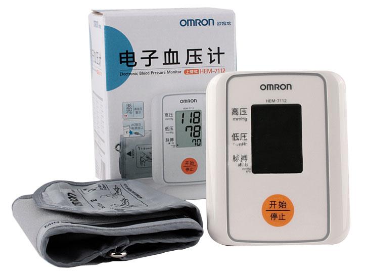 歐姆龍電子血壓計HEM-7112上臂式