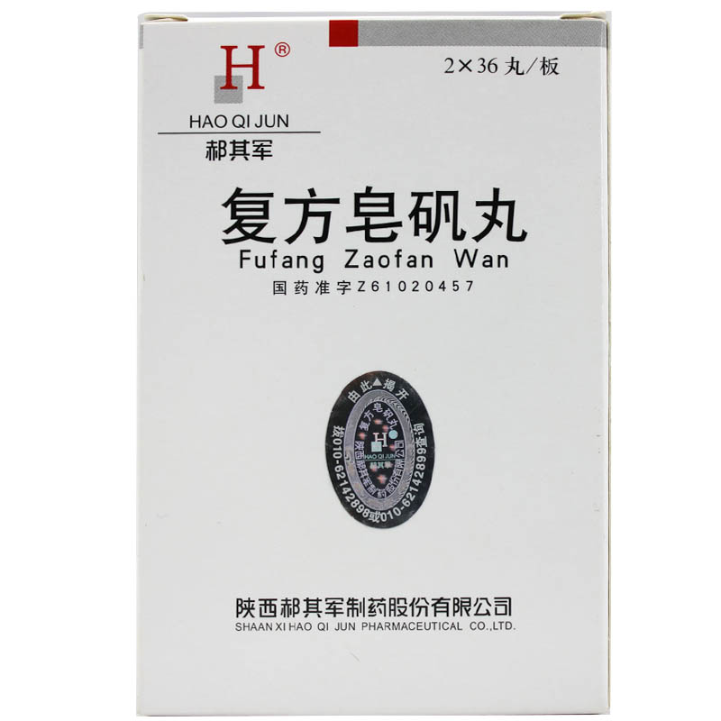 复方皂矾丸 72丸 陕西郝其军制药股份有限公司