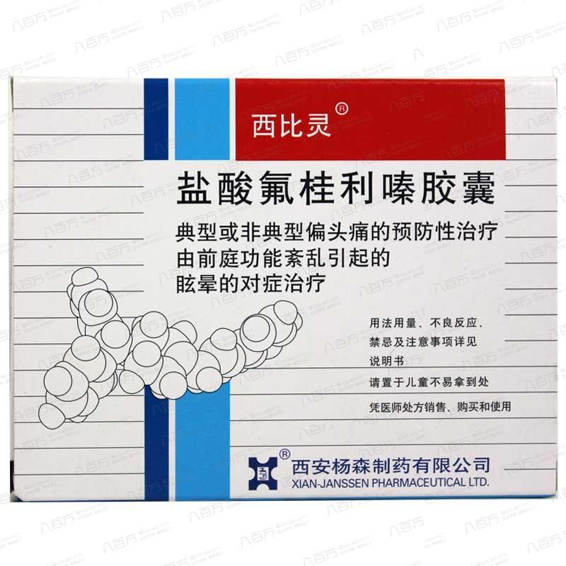 【西比靈(ling)】 鹽酸氟(fu)桂利 膠囊 5mg*20s 癲(dian)癇(xian)