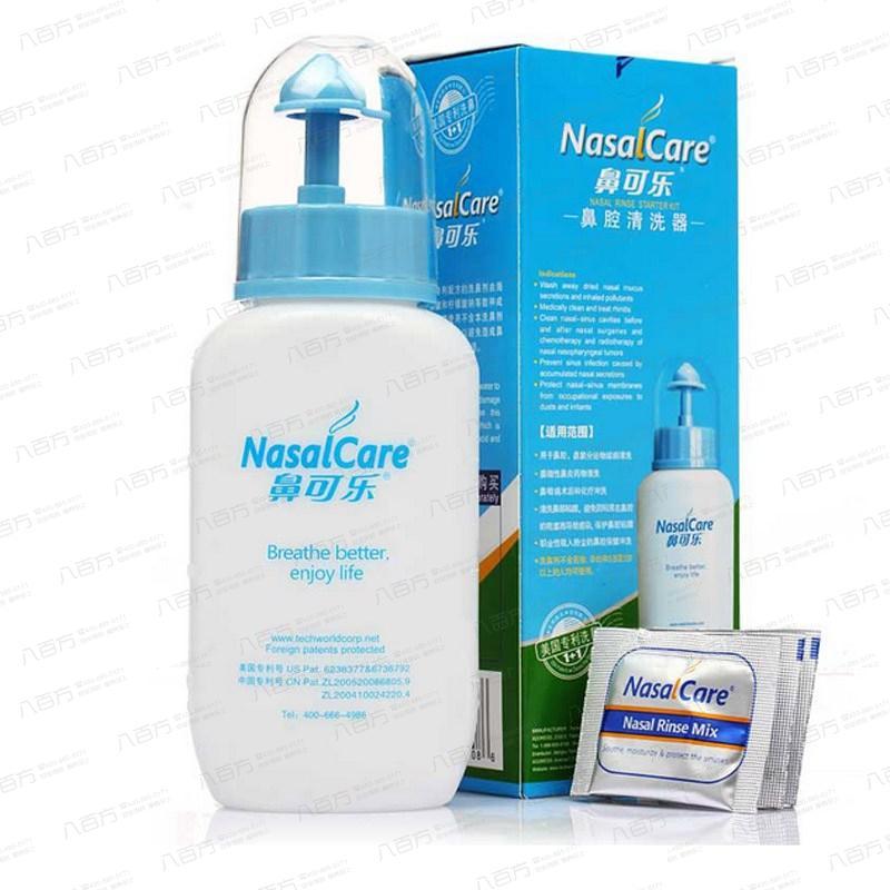 【鼻可乐】成人鼻腔清洗器240毫升+洗鼻剂3.5克*5包-有效期至2019年-鼻炎 鼻窦炎