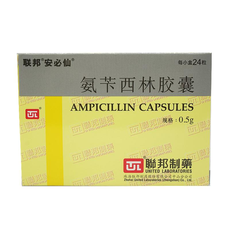 安必仙 氨苄西林胶囊 0.5g*24粒/盒珠海联邦制药股份有限公司中山分公司